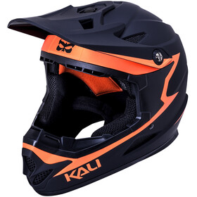 Kali Zoka Helm matt schwarz/orange
